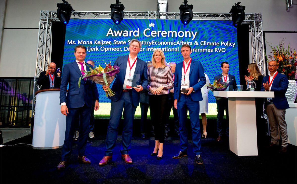 Carduso participation Deam receives innovation award from Mona Keijzer, state secretary for economic affairs.
