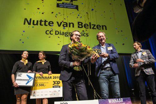Jonge Ondernemingsprijs awarded to Carduso financed entrepreneur Nutte van Belzen
